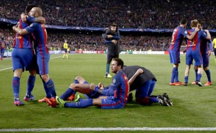El F.C. Barcelona ha aconseguit la darrera remuntada de grans dimensions a la Champions.