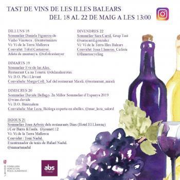 Toni Nadal i Joan Llaneras protagonitzen la tercera setmana dels tasts virtuals de vi de les Balears