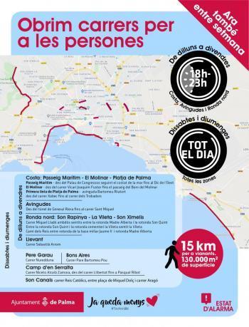 L'Ajuntament de Palma afegeix el carrer Reis Catòlics als carrers que s'obren per a vianants durant el cap de setmana