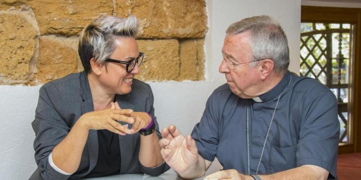 El bisbe de Mallorca i Sonia Vivas es reuneixen per parlar sobre la polèmica de l'estàtua de Juníper Serra