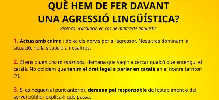 L'ASM difon un protocol d'actuació davant casos d'agressions lingüístiques