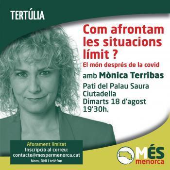 Més per Menorca convida la reconeguda periodista Mònica Terribas a reflexionar sobre el món després de la Covid-19