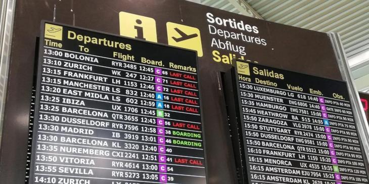 Els aeroports de les Balears operaran aquest cap de setmana fins a 2.403 vols