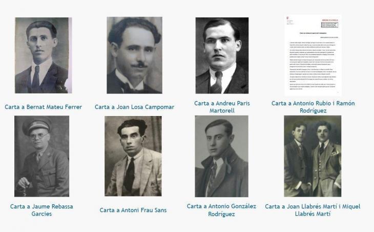 L'espai web dedicat a la memòria democràtica publica les primeres cartes de familiars a les víctimes