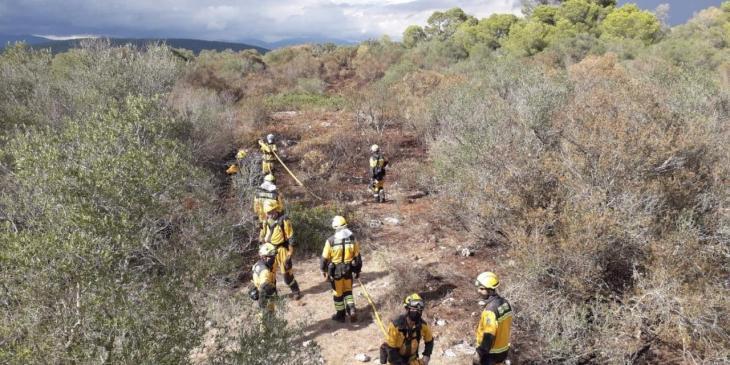 Extinguido un incendio forestal en Xorrigo (Palma)