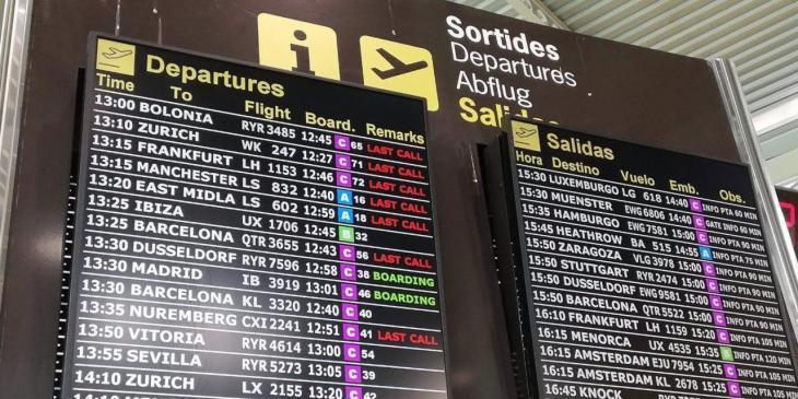 Los aeropuertos de Baleares operarán 1.574 vuelos este fin de semana, el 49,6% internacionales