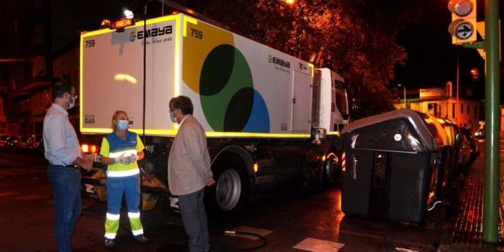 Cort amplía la limpieza desinfectante nocturna a Son Fortesa Sur y partes de plaza de Toros, Arxiduc y Son Oliva