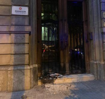 Nou atac a la seu d'Òmnium, el segon en les darreres setmanes