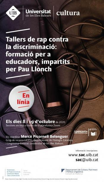 Pau Llonch impartirà tallers de rap contra la discriminació per a educadors