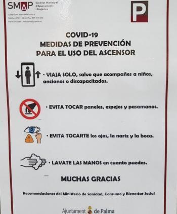 Demanen a l'Ajuntament de Palma que la informació antiCovid als aparcaments municipals estigui en català