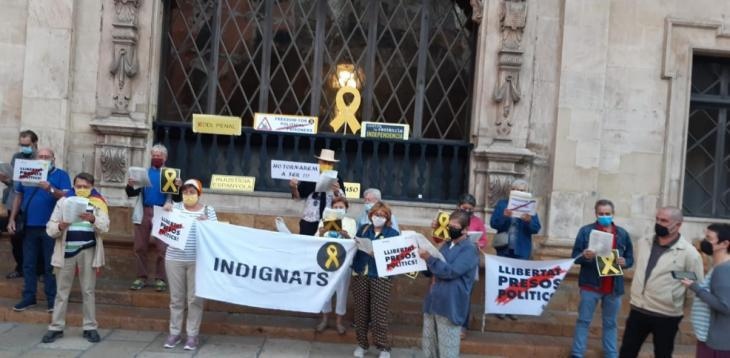 Protestes a Mallorca contra la inhabilitació del president Quim Torra