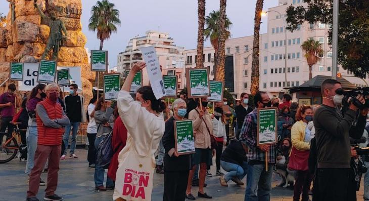 La Vida al Centre es manifesta a Palma per reclamar un canvi ecosocial del model econòmic illenc