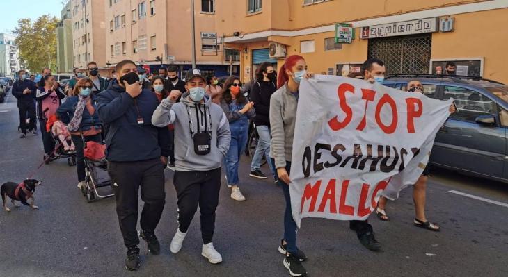 Stop Desnonaments es manifesta a Son Gotleu per reclamar lloguers socials dignes i acabar amb «la violència immobiliària, institucional i policial»