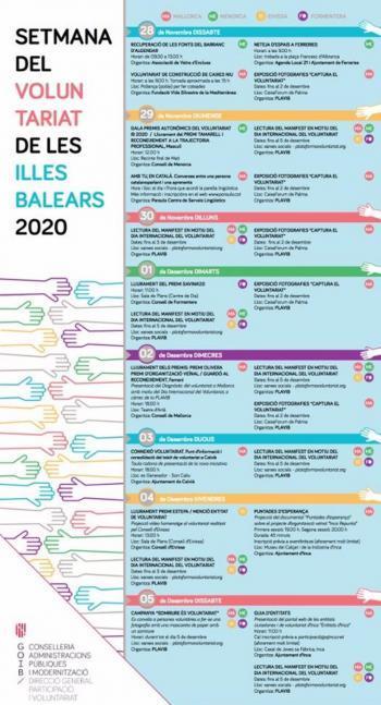 Les Balears celebren la Setmana del Voluntariat amb un cartell ple d'activitats