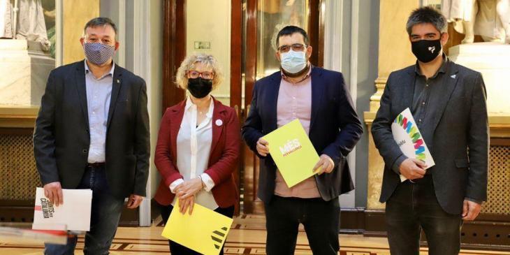 MÉS, EH Bildu, ERC i Junts per Catalunya refermen el seu «compromís» amb l'autodeterminació