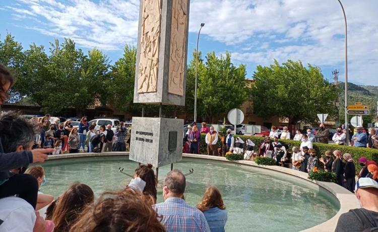 El mal temps trasllada al capvespre l'ofrena al Monument de l'11 de maig